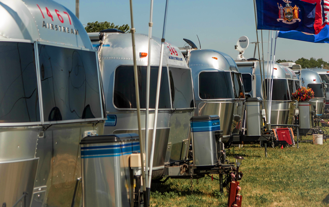 Row of Airstreams