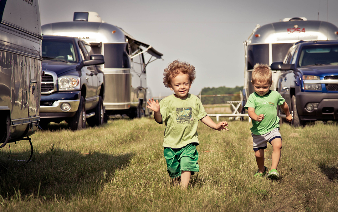 In a field of Airstreams there's fun for the whole family